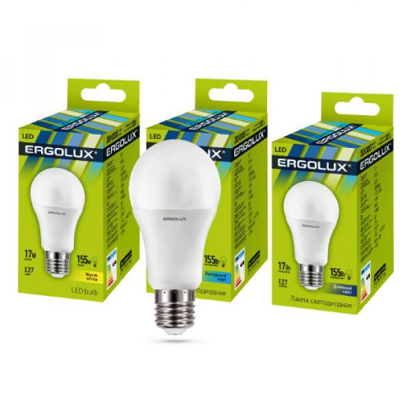 лампа LED ERGOLUX A60-17W-E27-6K 155Вт 13181( 6952 )