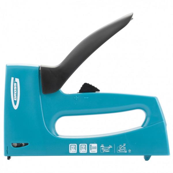 степлер GROSS мебельный пласт. корпус, скобы 13,53,300, 6-16мм  41003( 726 )
