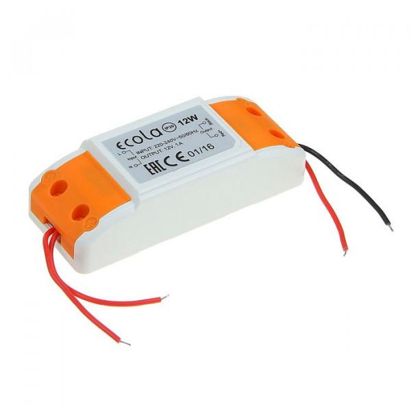 блок питания ECOLA д/LED ленты 12V  12W IP20 B2N012ESB( 7439 )