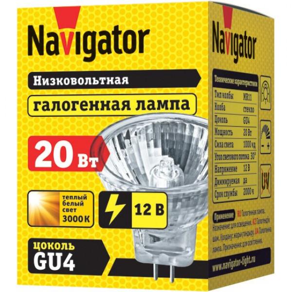 лампа галоген NAVIGATOR MR11 12/20W стекло*( 7666 )
