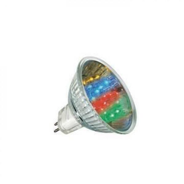 лампа LED FERON MR16 1W 220B многоцвет( 7688 )