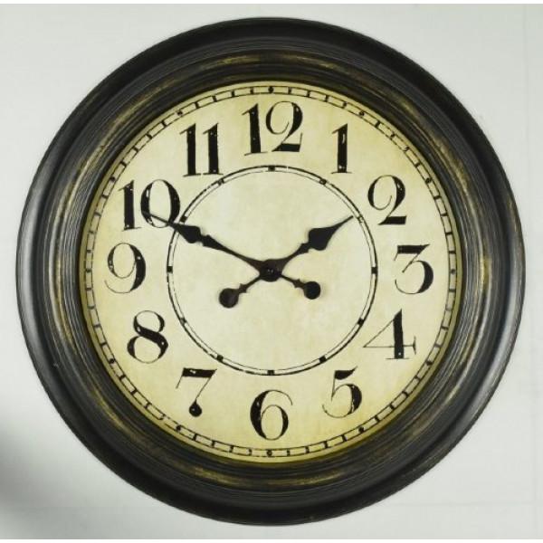 часы настен. 2615-8J-XYM (D76,2*B5,8см) черный( 777 )