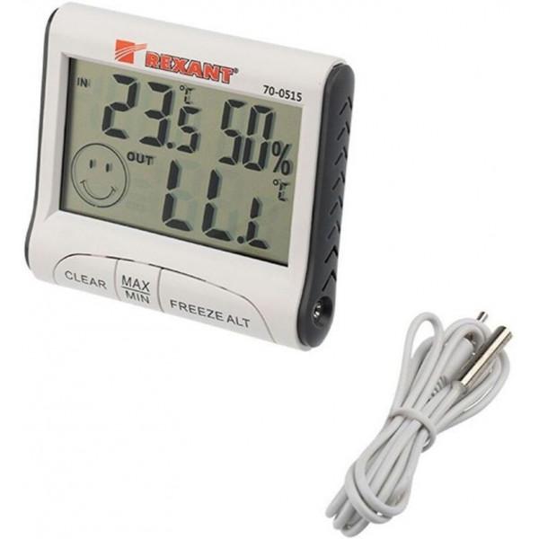 термогигрометр REXANT 70-0515 комнатно-уличный( 7969 )