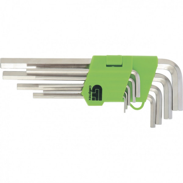 набор ключей СИБРТЕХ имбусовых 9шт 1.5-10мм удлин HEX  12318*( 8095 )