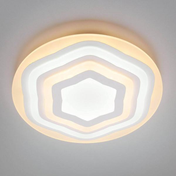 люстра LED 90117/1 бел 114W МЕГАПОЛИС( 8099 )