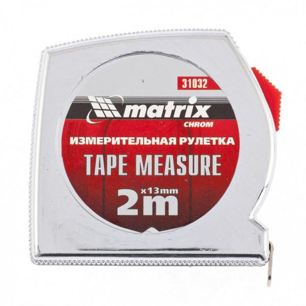рулетка MATRIX Chrom 2м 13мм  31032( 8209 )