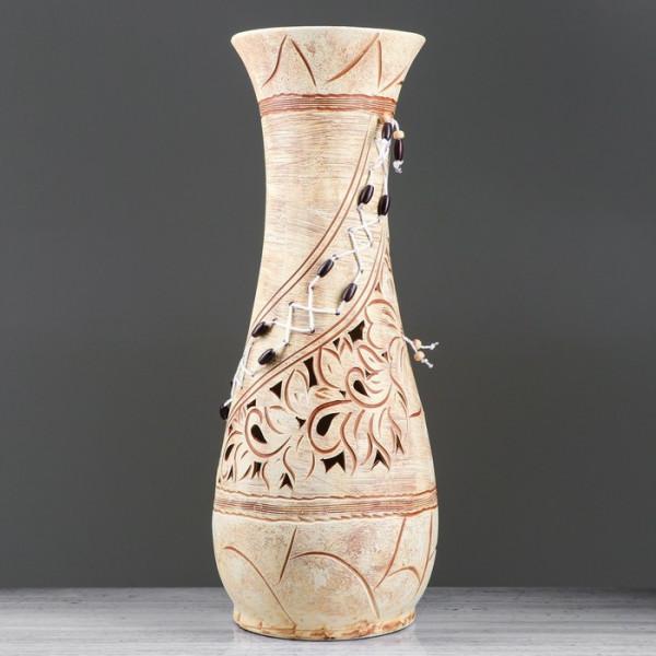 ваза напольн. 57см ОСЕНЬ плетение, бусины, микс  ( 8783 )