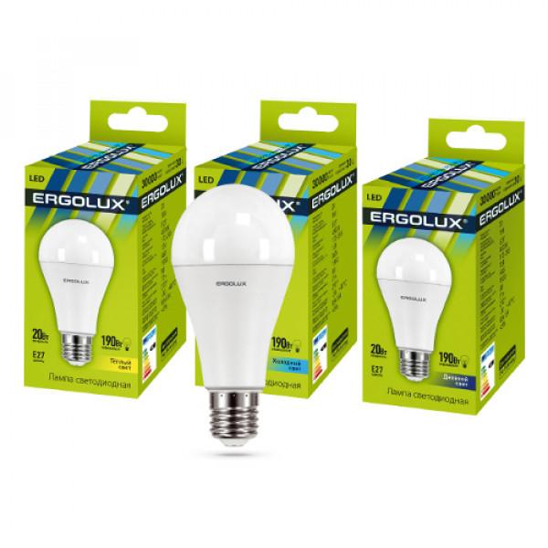 лампа LED ERGOLUX A60-20W E27-3K 190Вт 13182( 9003 )