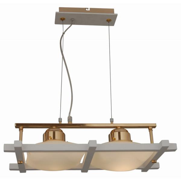 люстра 85651/2P WHITE+FGD ЕВРОКАРКАСЫ подвесная (лампы в компл.)*( 90099 )