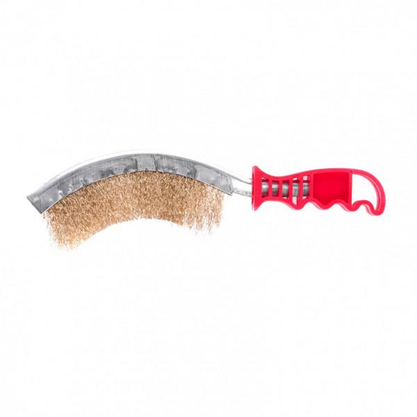щетка MATRIX  металл  изогн с пластм ручкой  74839( 90145 )