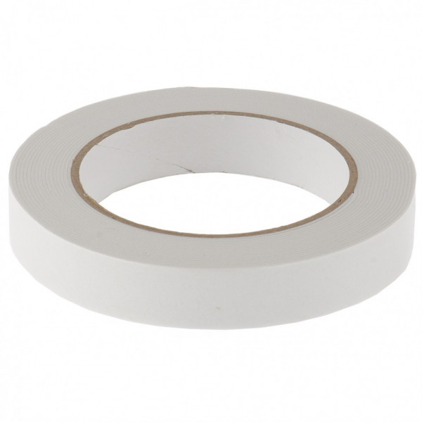 лента MATRIX клейкая на вспен осн, 19ммх5м двухстор белая 89080( 90148 )