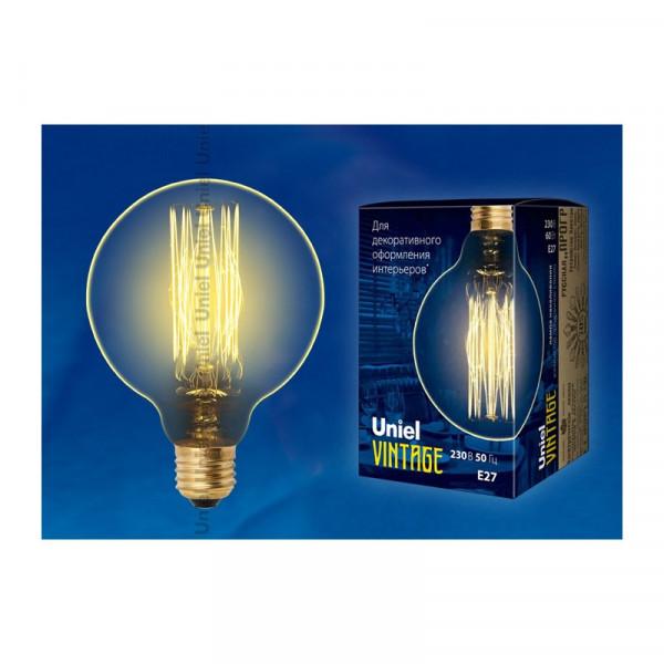 лампа UNIEL G125-60/GOLDEN/E27 Vintage 230V филамент золото( 90417 )