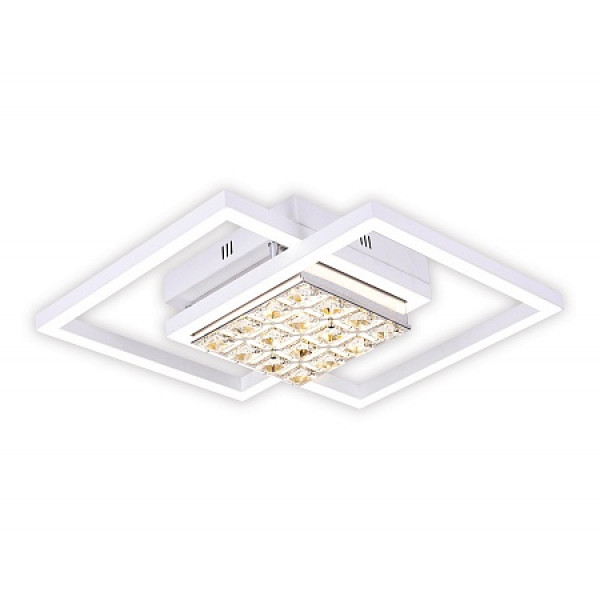 светил LED Ambrella ACRYLICA FA111 64W 430*430*90 WH белый (ПДУ)*( 90466 )