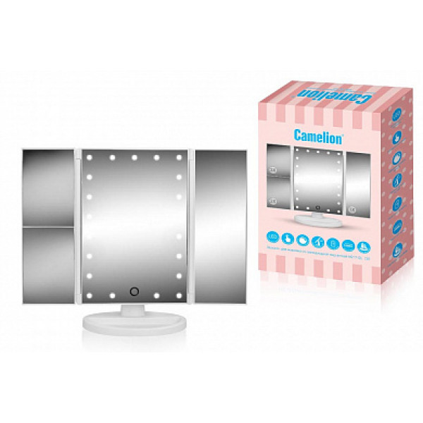 зеркало с LED подсв М217-DL C01 CAMELION (питание USB, 4*LR03 AA) 14005( 90680 )