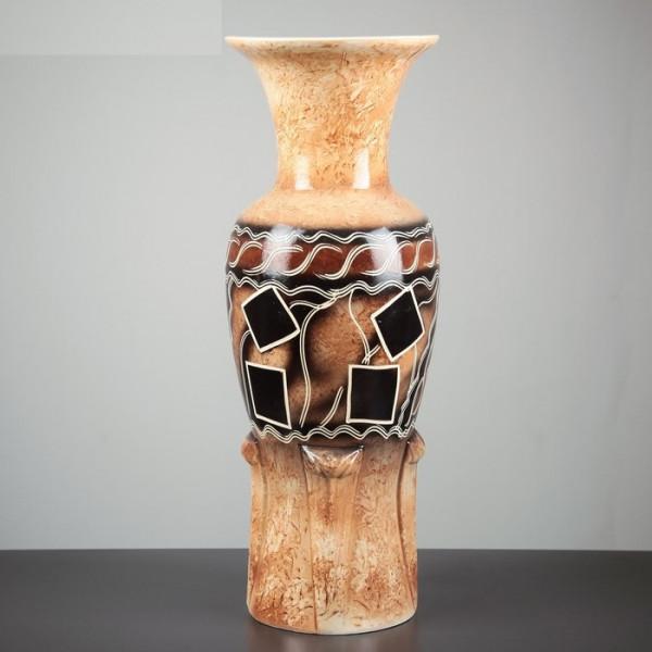 ваза напольн. 58см ЭЛЕГИЯ абстракция, коричн ( 91356 )