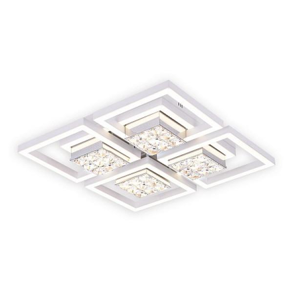 светил LED Ambrella ACRYLICA FA118/4 124W 480*480*100 WH белый (ПДУ)*( 91737 )