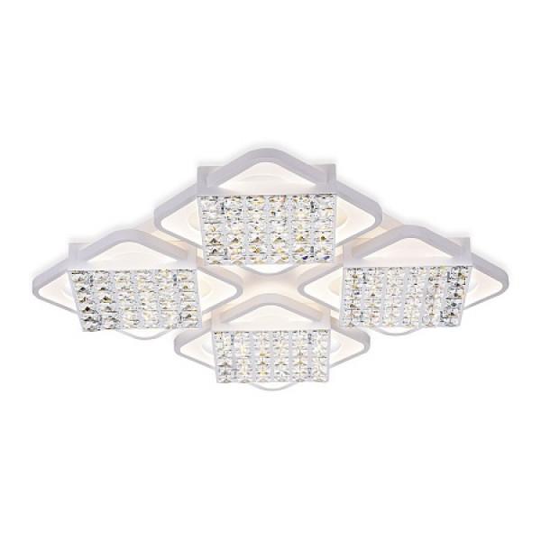 светил LED Ambrella ACRYLICA FA128/4 222W 680*680*100 WH белый (ПДУ)( 91738 )