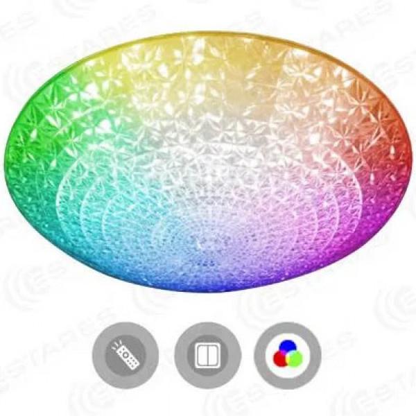 светил LED ESTARES AKRILIKA RGB R 36W d388x98 прозр звезд.небо пульт ДУ*( 91769 )