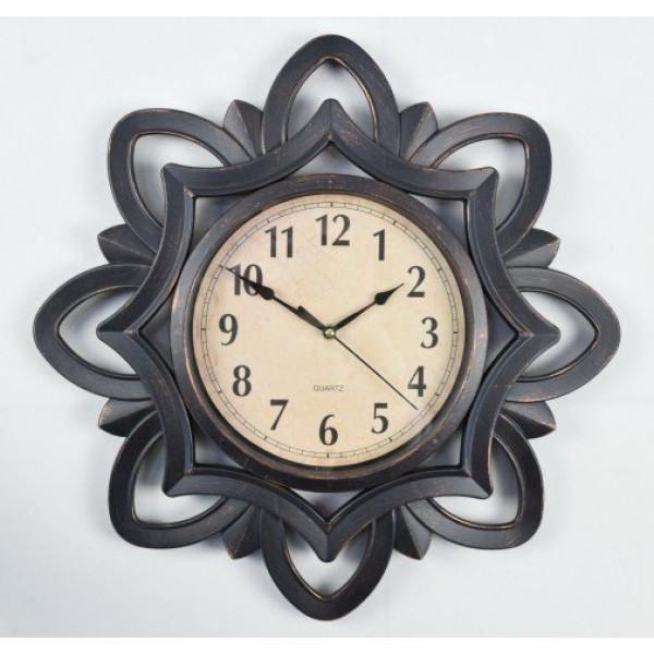 часы настен. 2847-01А-XYM (50,8*50,8*4,6см) черн( 9259 )