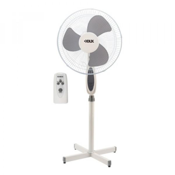 вентилятор напольный DUX DX-18 40Вт ПДУ+таймер бел/сер 60-0206( 92984 )