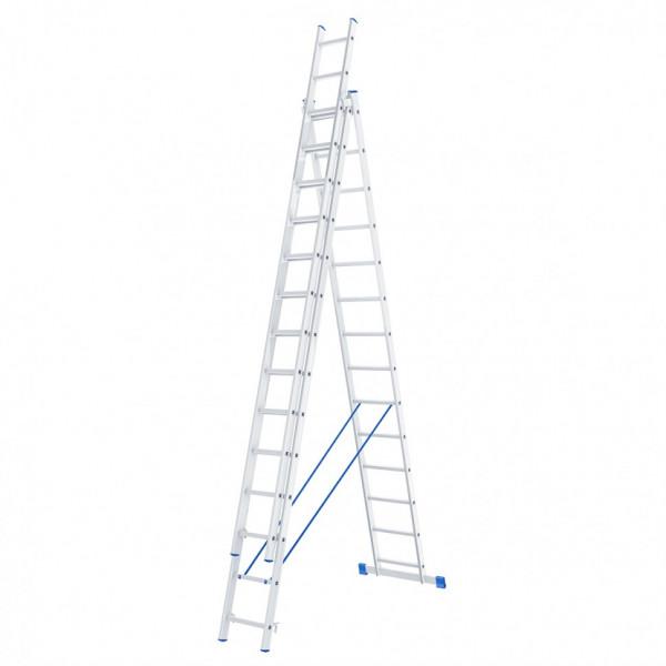 лестница СИБРТЕХ 3х14 ступ. алюм 3х секц. 97824*( 93619 )