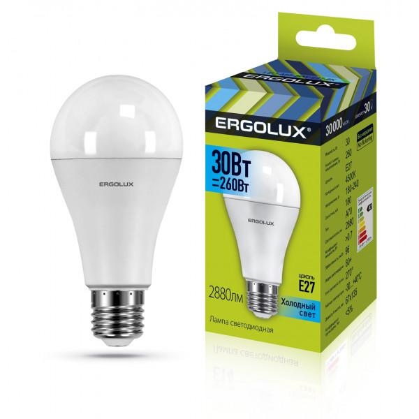 лампа LED ERGOLUX A70-30W-E27-4K 260Вт 14229( 93620 )