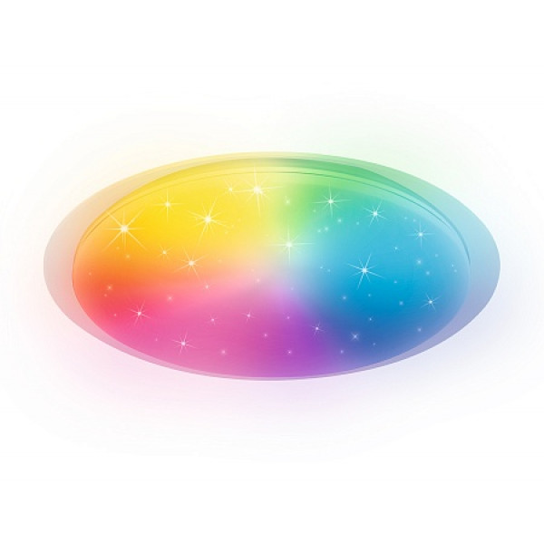 светил LED Ambrella FF480 WH белый 80W D560*75 RGB (ПДУ ИК)( 93704 )