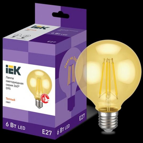 лампа LED ИЭК 6W/E27 360° G95 2700K ретро( 93786 )