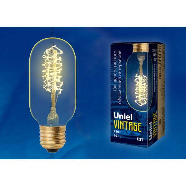 лампа накал UNIEL VINTAGE SW01 IL-V-L45A-40/GOLDEN/E27 Цилиндр( 97 )